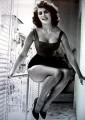 Sofia Loren calze a rete in terrazza