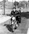 Elvis Presley in moto